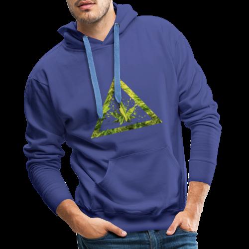 Marijuana Cannabisblatt Triangle with Splashes - Männer Premium Hoodie