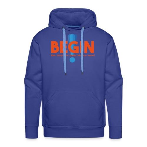 the begin project - Sweat-shirt à capuche Premium pour hommes