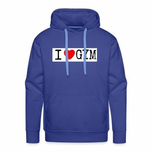 LOVE GYM - Felpa con cappuccio premium da uomo