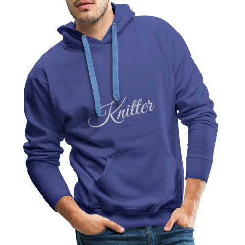 Knitter, light gray - Men's Premium Hoodie
