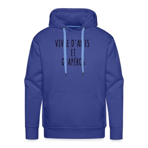 Vivre d'amis et d'apéros - Sweat-shirt à capuche Premium pour hommes