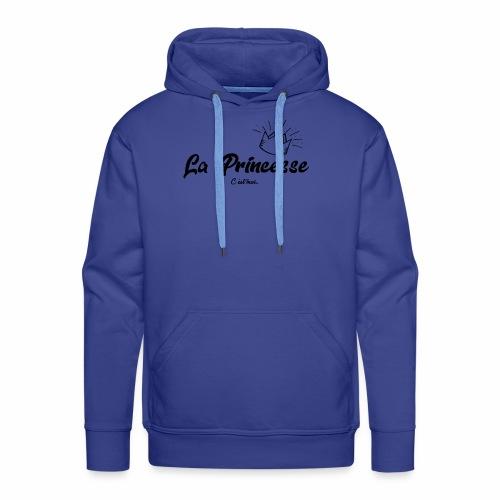 princesse couronne NOIR - Sweat-shirt à capuche Premium pour hommes