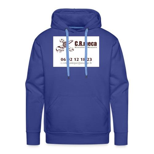PUB EXT CRmeca - Sweat-shirt à capuche Premium pour hommes