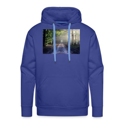 Super Ausblick im Wald Design - Männer Premium Hoodie