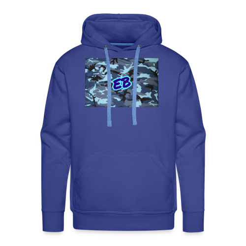 Ellibradyoffical blue camo - Men's Premium Hoodie