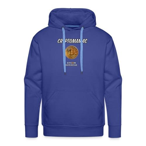 Cryptomaniac - Felpa con cappuccio premium da uomo