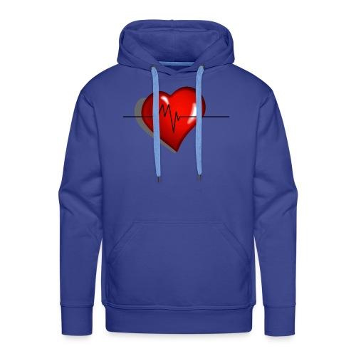 heart - Felpa con cappuccio premium da uomo