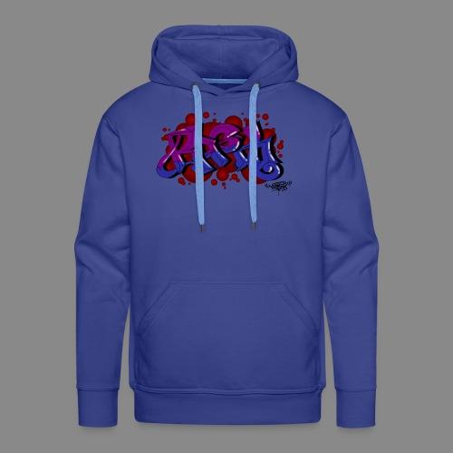 Rasko blue purple bubbles - Männer Premium Hoodie