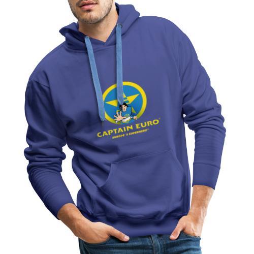 CAPITÁN EURO, SUPERHÉROE DE EUROPA - Sudadera con capucha premium para hombre