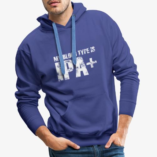 My blood type is IPA - Men's Premium Hoodie