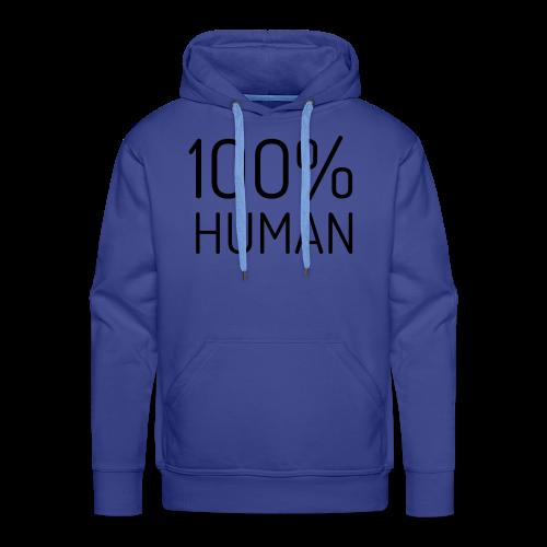 100% Human - Mannen Premium hoodie