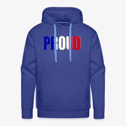 BE PROUD France - Sweat-shirt à capuche Premium pour hommes