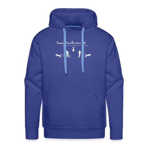 Teamcanicross 56 logo blanc - Sweat-shirt à capuche Premium pour hommes