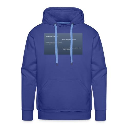 Running joke t-shirt - Men's Premium Hoodie