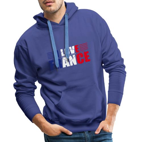 love france - Sweat-shirt à capuche Premium pour hommes