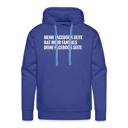 Facebook Vergleich - Männer Premium Hoodie