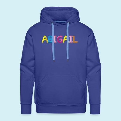 Fluffy Abigail Letter Name - Men's Premium Hoodie