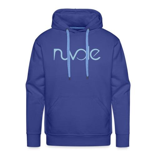 Nuvole - Logo esteso blu - Felpa con cappuccio premium da uomo