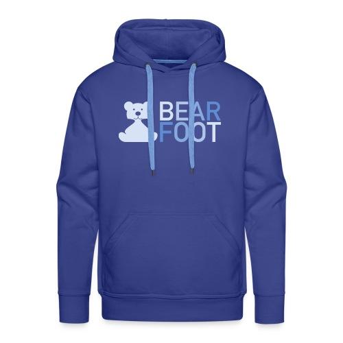 BEAR FOOT fade blue - Männer Premium Hoodie