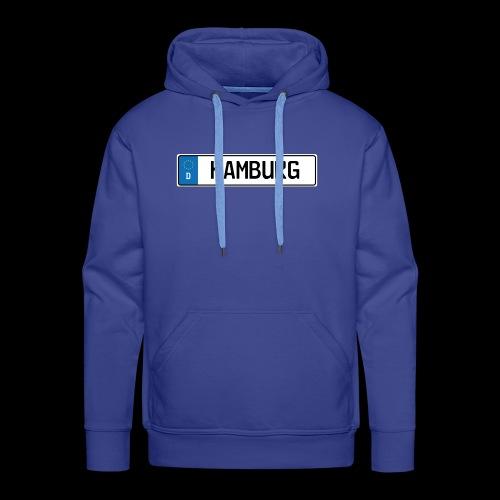 Kennzeichen Hamburg - Männer Premium Hoodie
