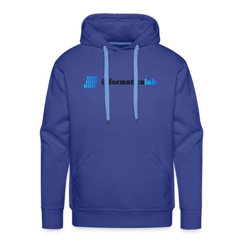 InformaticaLab logo for white background - Felpa con cappuccio premium da uomo