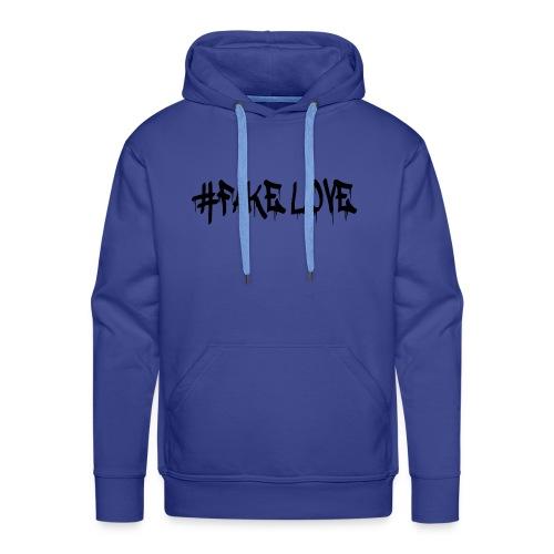 #FAKE LOVE/ BLACK - Sweat-shirt à capuche Premium pour hommes
