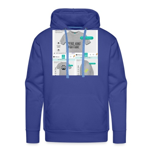 Pyro_King T-shirt - Männer Premium Hoodie