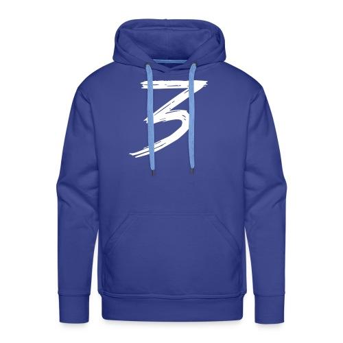3 Logo - Felpa con cappuccio premium da uomo