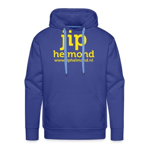 Jip helmond met webadres - Mannen Premium hoodie