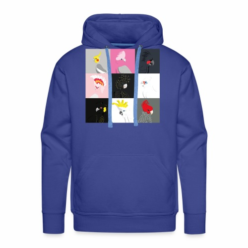 Cockatoo tile portraits - Men's Premium Hoodie