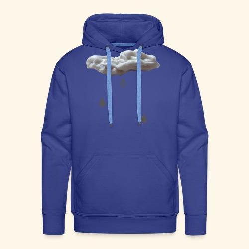 Nuvola con gocce grigie - Felpa con cappuccio premium da uomo