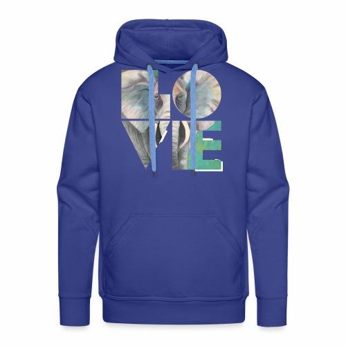Elefant der Liebe - Männer Premium Hoodie