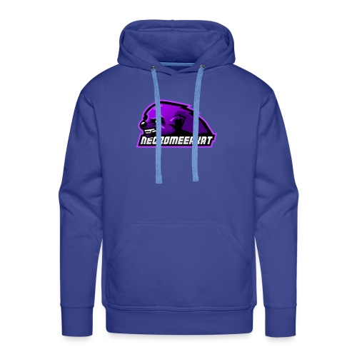 Necromeerkat logo + texte - Sweat-shirt à capuche Premium pour hommes