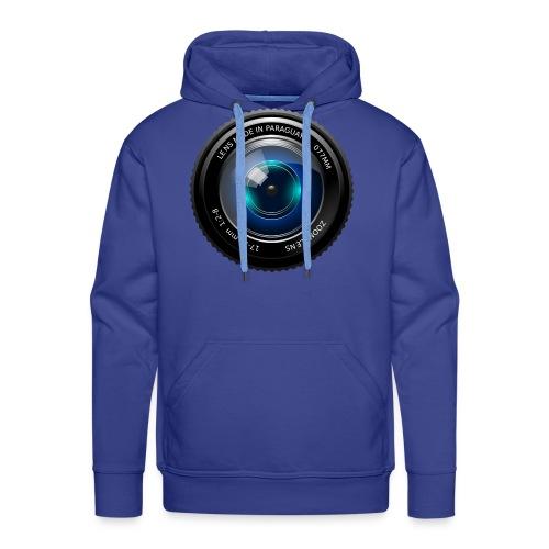 Camera Lens - Felpa con cappuccio premium da uomo