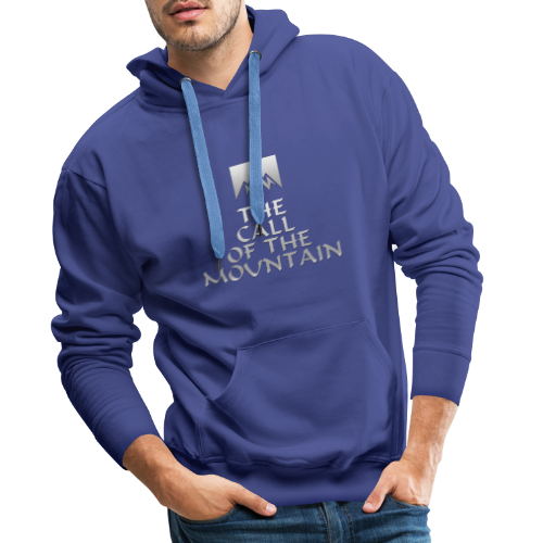 The Call Of The Mountain - silver - Men's Premium Hoodie