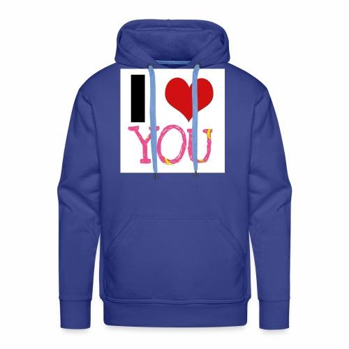 I LOVE YOU - Männer Premium Hoodie