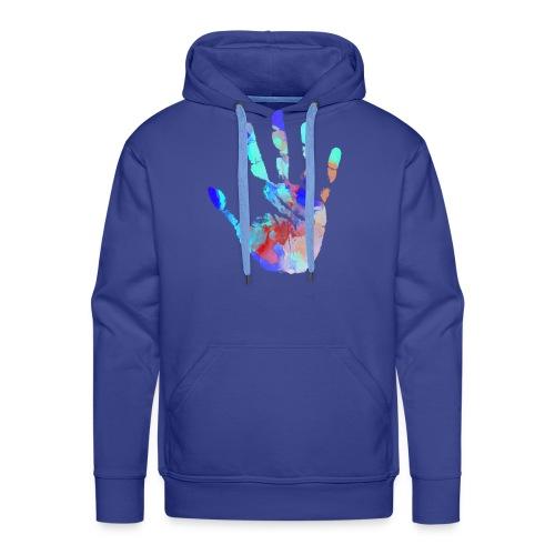 Hand Wasserfarbe - Männer Premium Hoodie