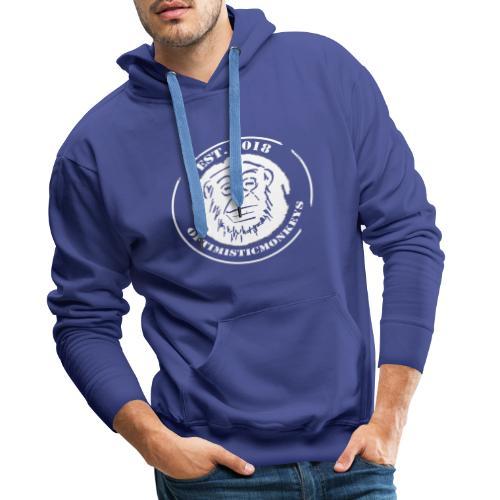 Caps Logo Opti Monki White Edition - Männer Premium Hoodie