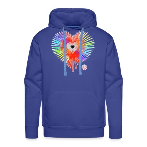 Regenbogen Herz - Männer Premium Hoodie