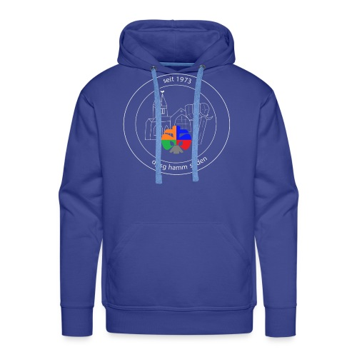 T Shirt Logo weiss trans ohne rand - Männer Premium Hoodie
