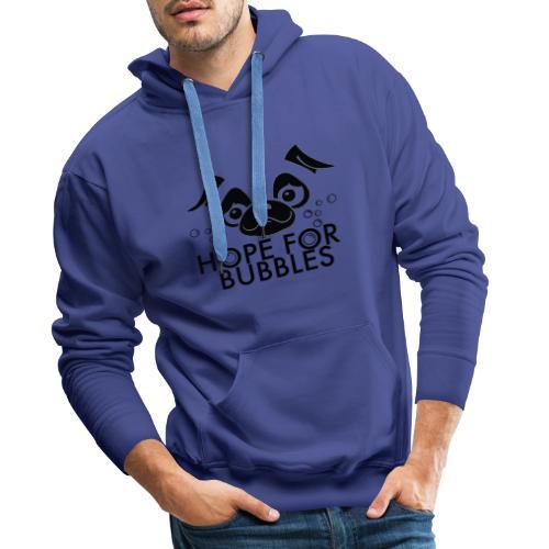 HOPE FOR BUBBLES BLACK MERCH - Mannen Premium hoodie