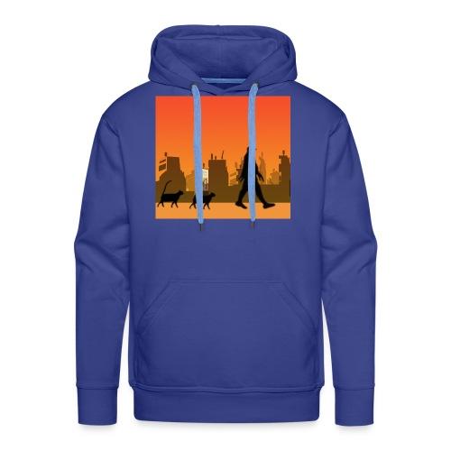 Gaturbe-Ciudad - Sudadera con capucha premium para hombre