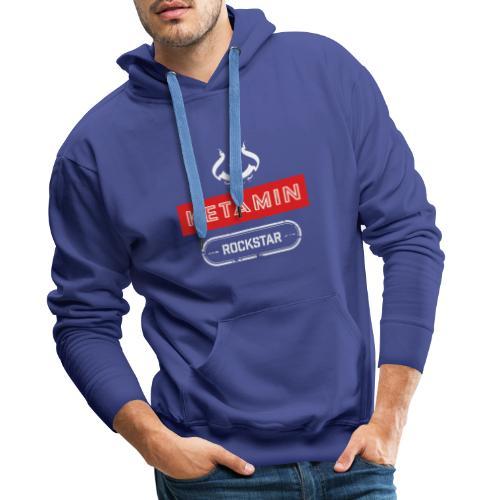 KETAMIN Rock Star - Weiß/Rot - Modern - Männer Premium Hoodie