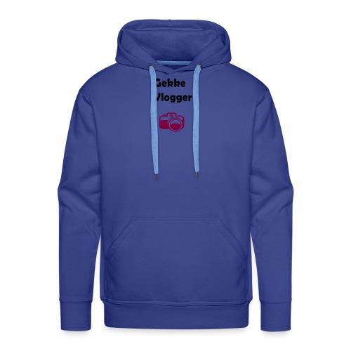 Gekke vlogger shirt - Mannen Premium hoodie