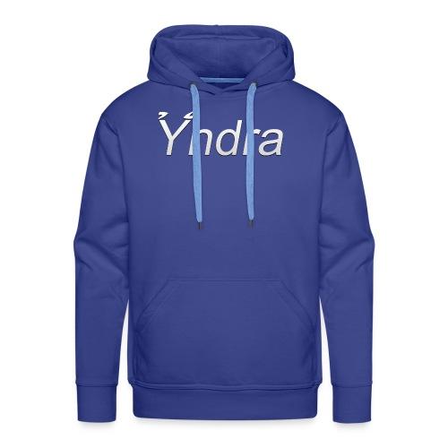 Yndra-Logo´3´-Weiß - Männer Premium Hoodie