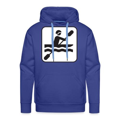 Icono piraguista - Sudadera con capucha premium para hombre