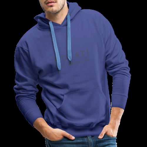 MOKATI bewegende bilder - Logo dunkelgrau - Männer Premium Hoodie
