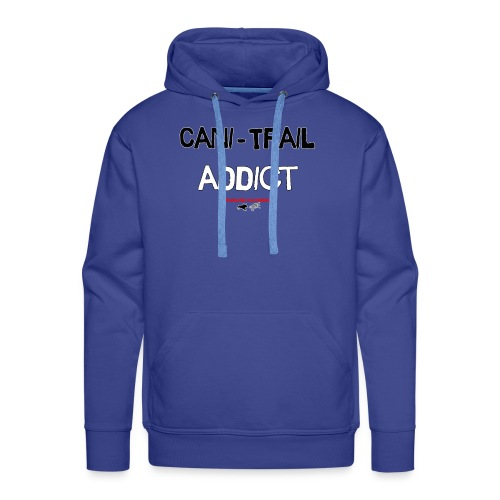 cani Trail addict - Sweat-shirt à capuche Premium pour hommes