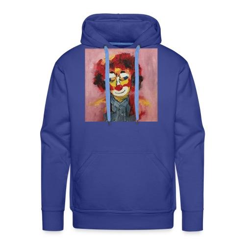 Clown - Felpa con cappuccio premium da uomo