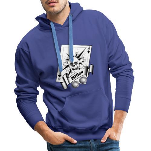 t shirt petanque milieu crane rieur as pointe tir - Sweat-shirt à capuche Premium pour hommes